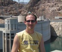 Me at Hoover Dam, Colorado river, Black Canyon, Arizona side